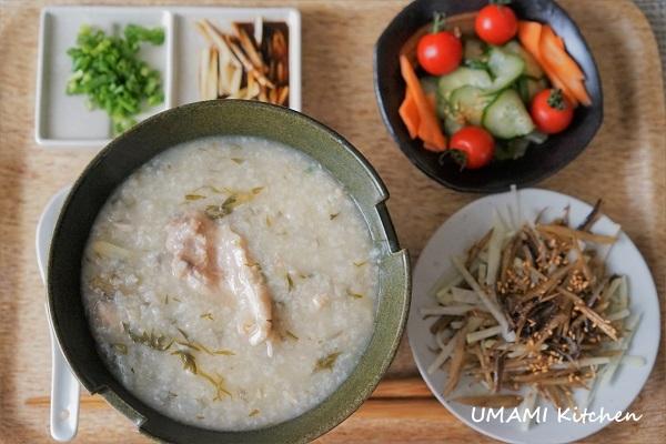 魚乾牛蒡絲小炒伴魚粥