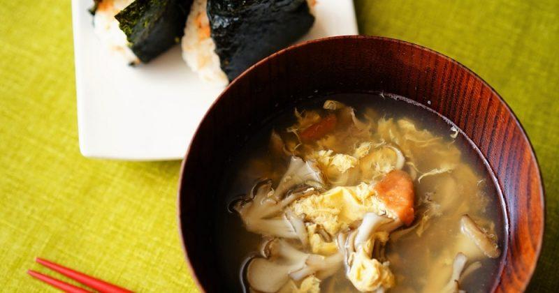 舞菇蛋花湯