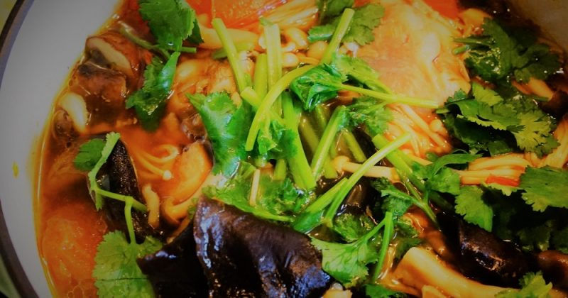 木耳雜菌雞煲