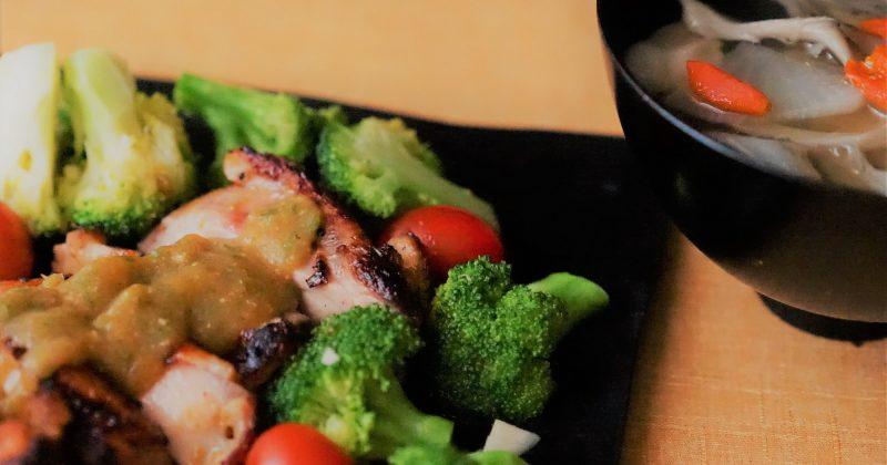 味噌杮醬煎雞扒